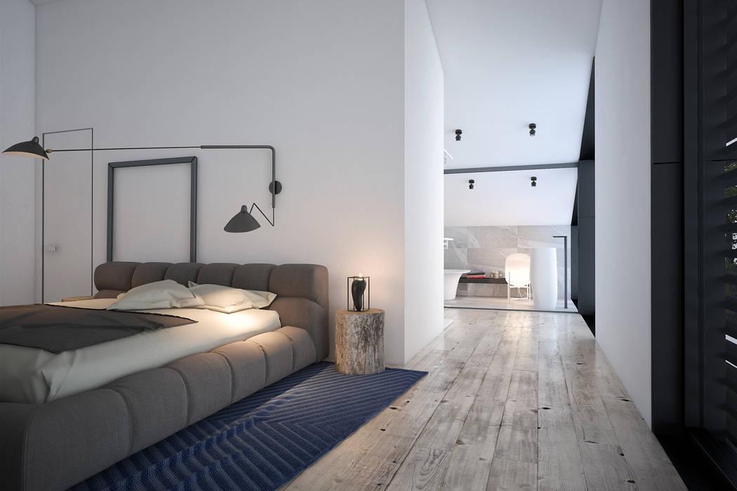 Минималистичная гостевая спальня: Спальни в . Автор – Zooi