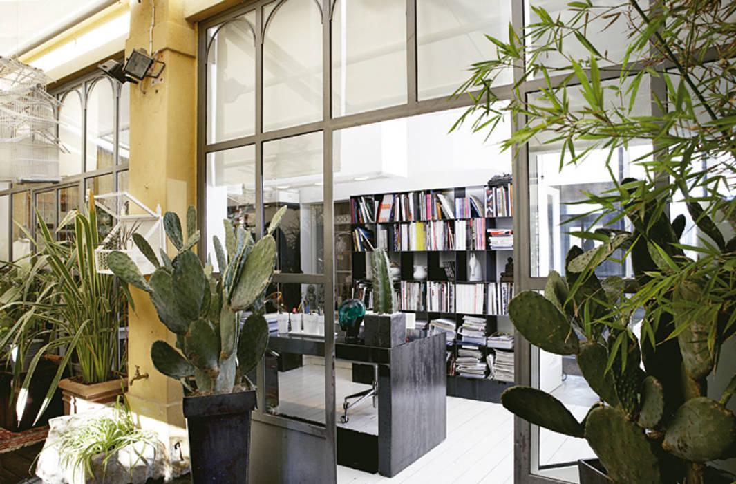Veranda studio giardino d 39 inverno in stile mediterraneo for Architetto d interni