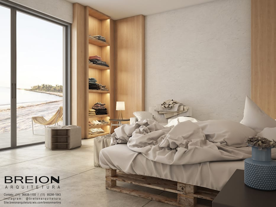 Minimalist bedroom by Breion Arquitetura Minimalist