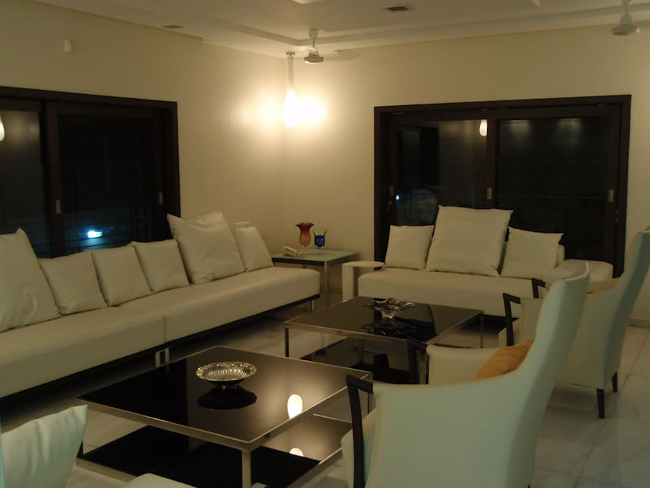 Formal living Minimalist living room by Sahana's Creations Architects and Interior Designers Minimalist