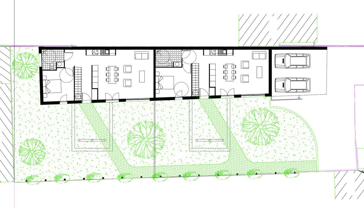 2 maisons contemporaines à Epinay sur Seine: Maisons de style  par Fabrice Commercon