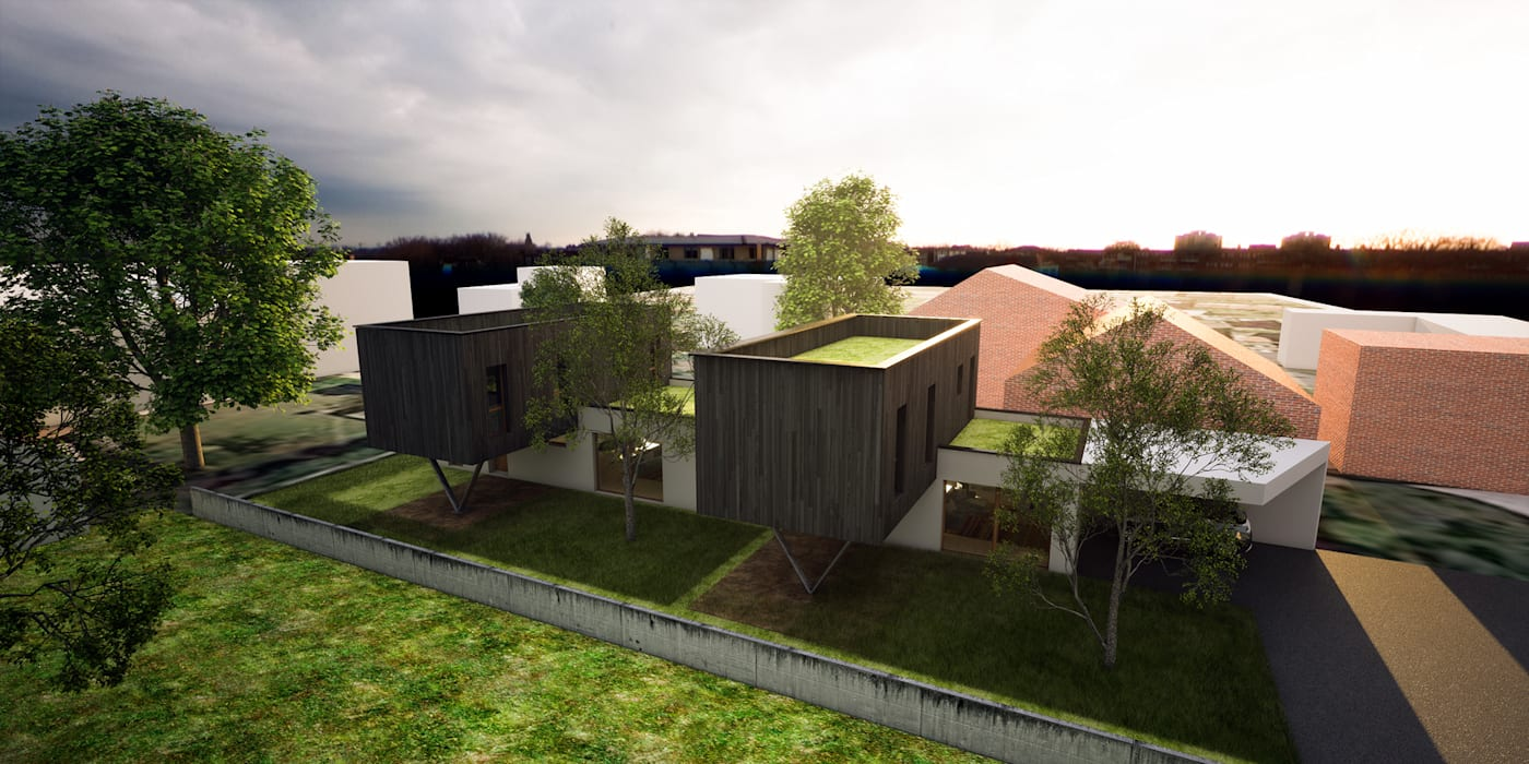 2 maisons contemporaines à Epinay sur Seine: Maisons de style de style Moderne par Fabrice Commercon