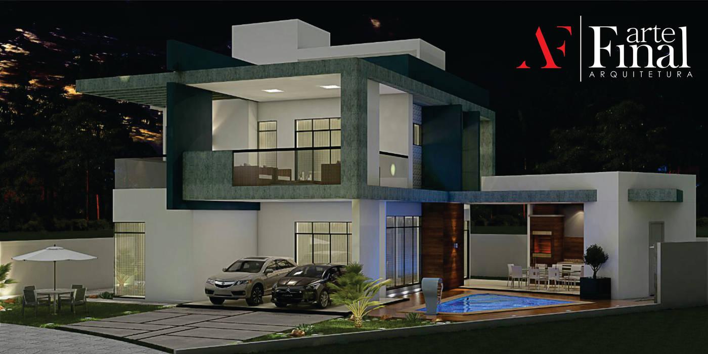 Sobrado Contemporâneo: Casas  por Arte Final - Arquitetura,Moderno