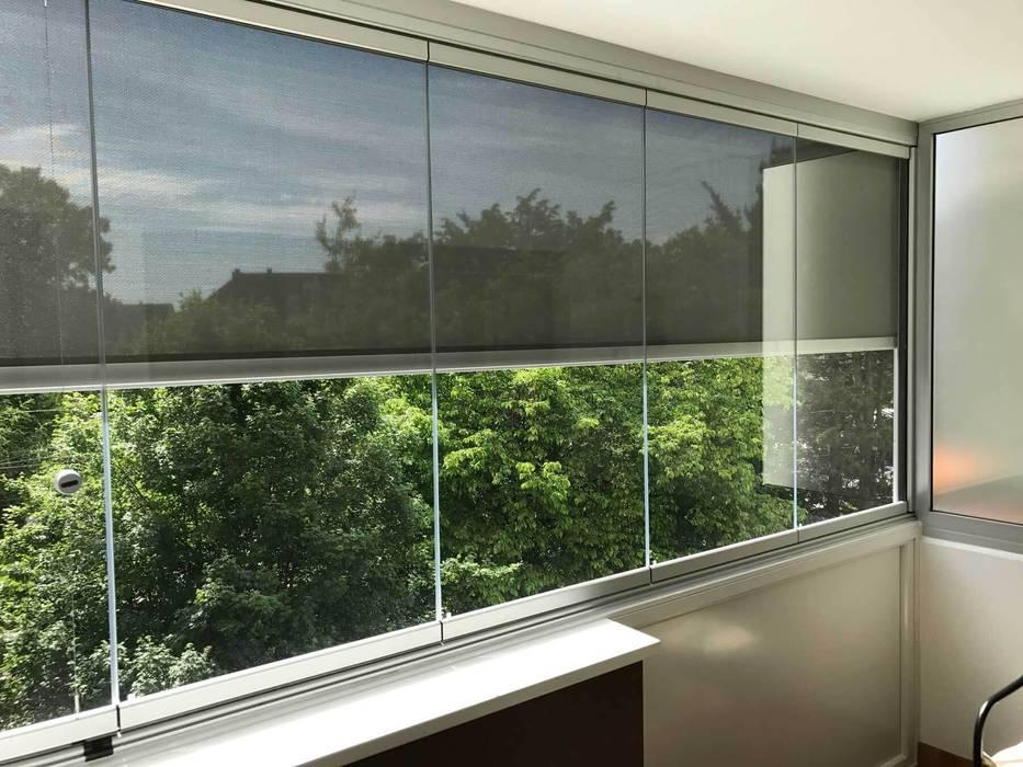 Balkonverglasung Mit Sichtschutz Moderner Wintergarten Von
