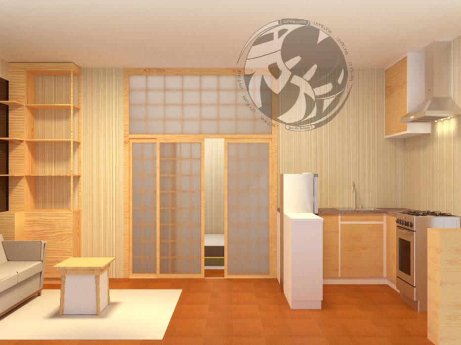 ออกแบบ 3d 😇 ห้อง condo ให้ลูกค้า😇 style Oriental 😍 โดย mayartstyle เอเชียน ไม้ Wood effect