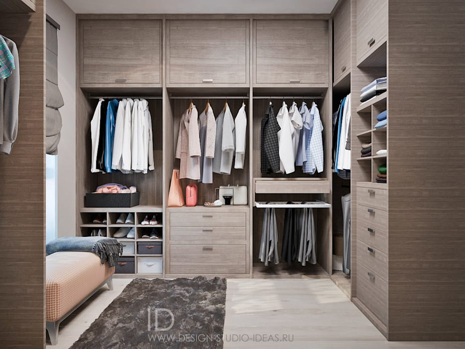 Closets por Студия дизайна Interior Design IDEAS Industrial