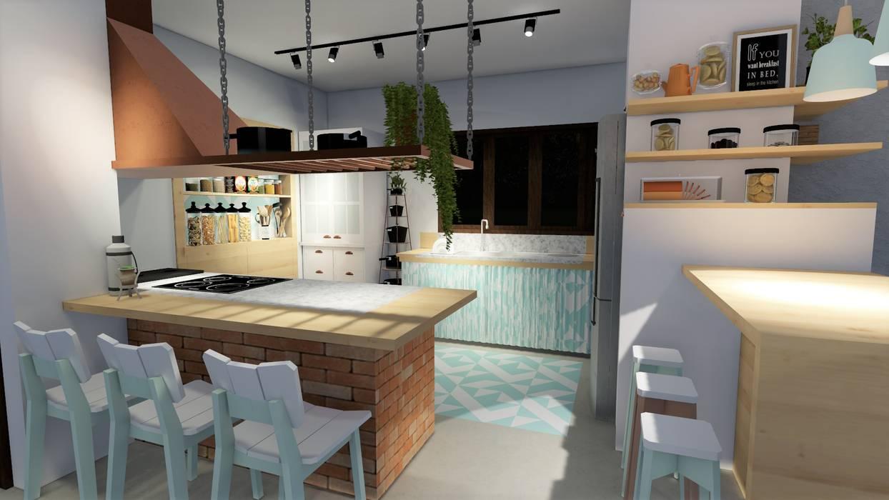 Cucina in stile in stile coloniale di okla arquitetura | homify