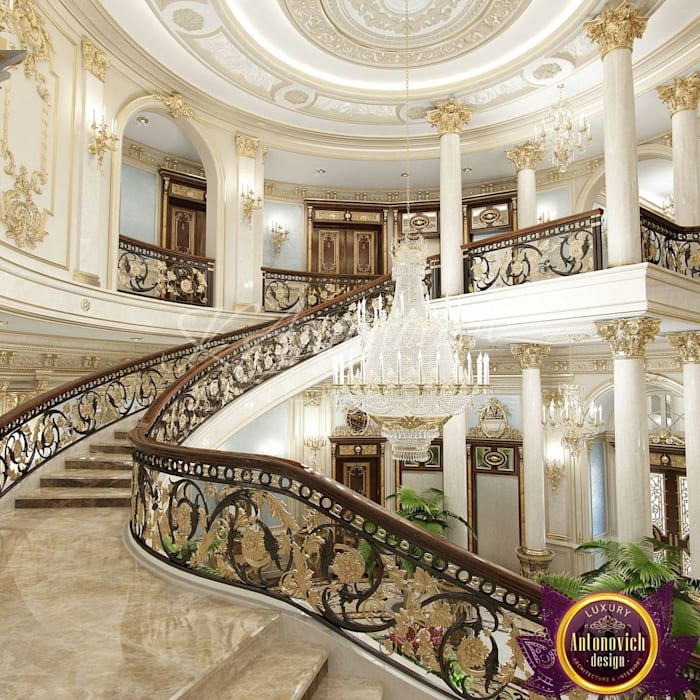 Katrina Antonovich Luxury Interior Design: Luxury Antonovich Design: Tarz Koridor Ve Hol