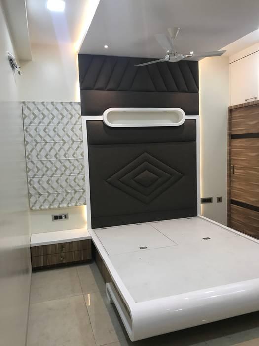 Luxury Interior Design 3 BHK Flat Nabh Design & Associates Minimalist bedroom Plywood