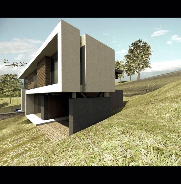 CASA 9 Casas modernas de Elite Arquitectura y Asoc. SAS. Moderno Hierro/Acero