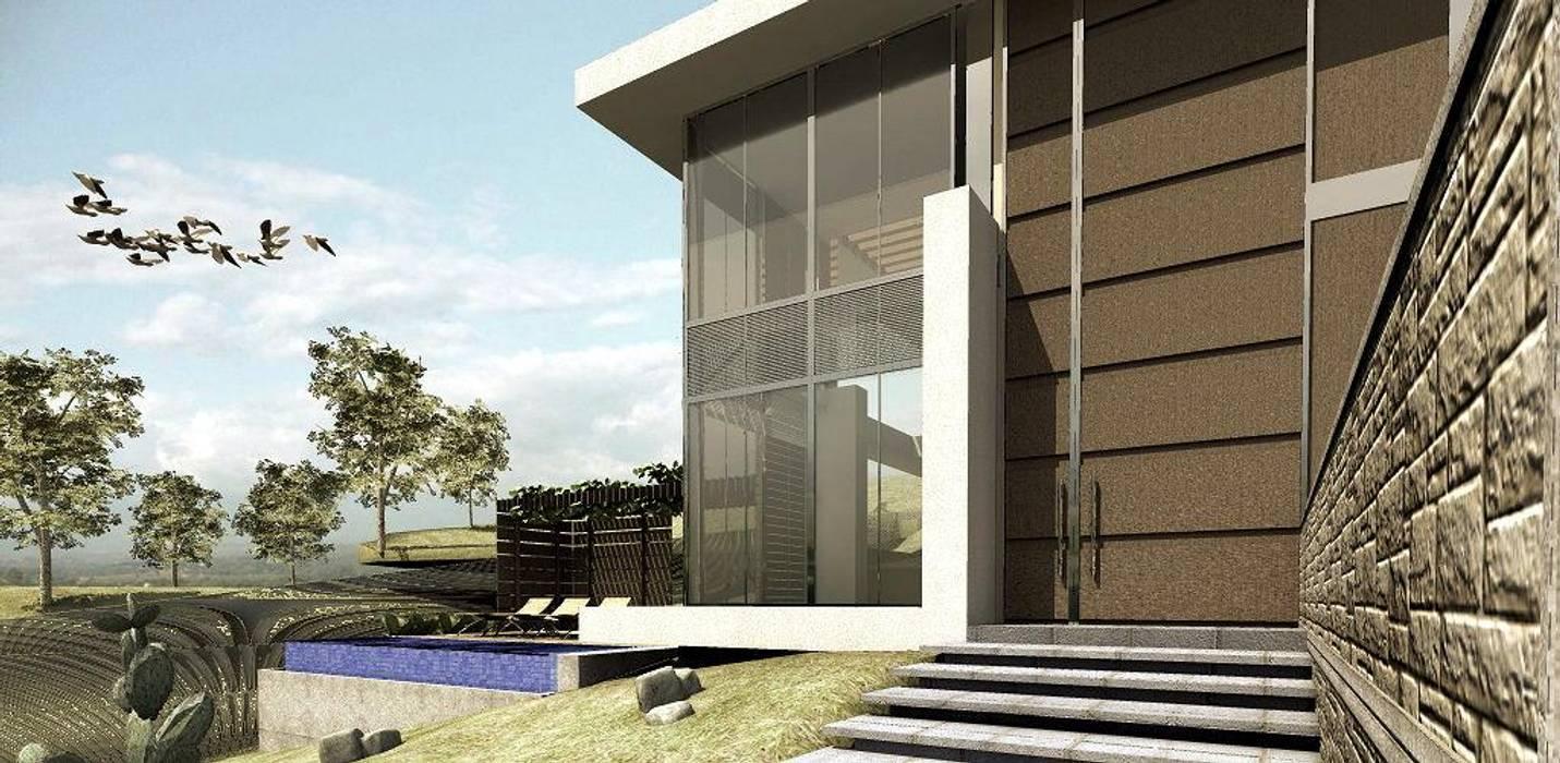Case moderne di Elite Arquitectura y Asoc. SAS. Moderno Ferro / Acciaio