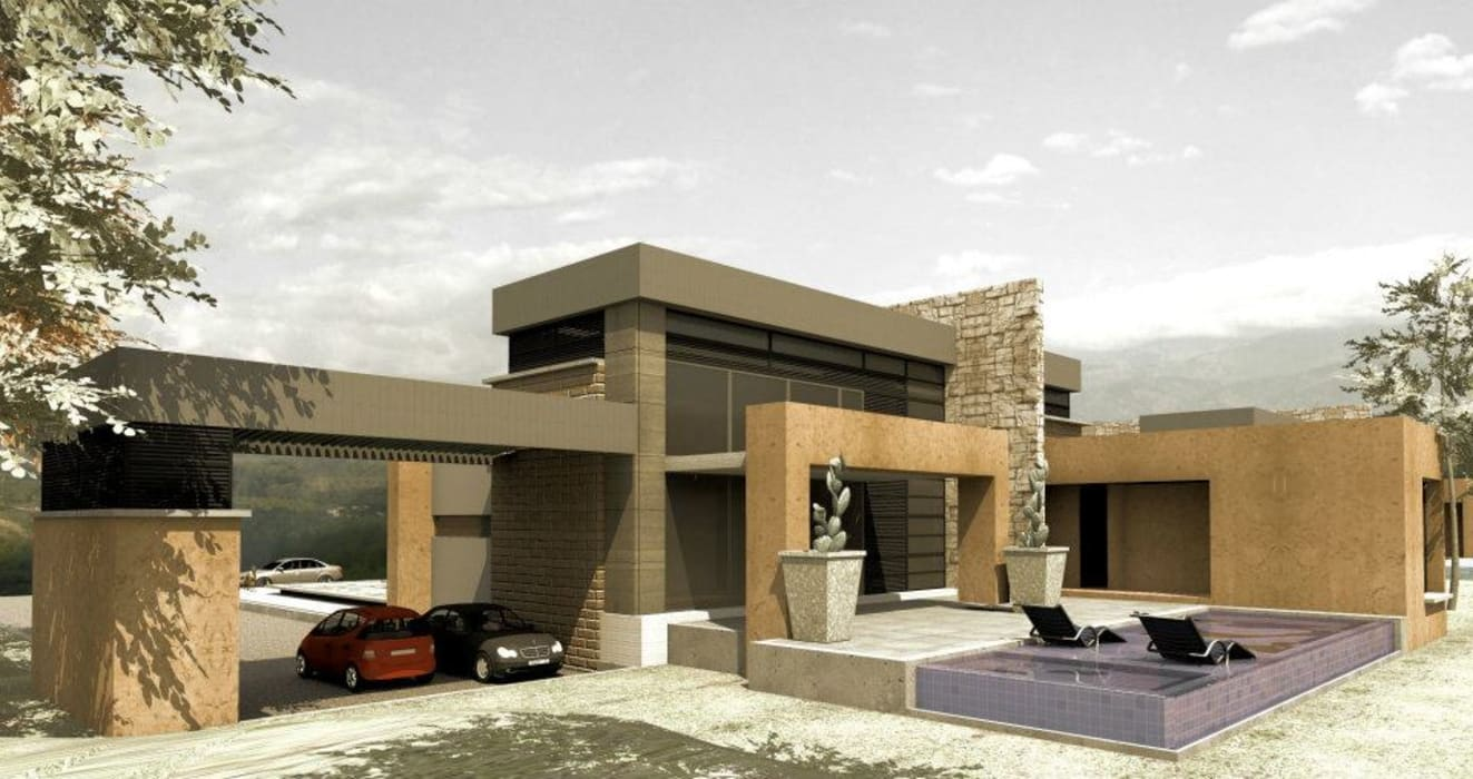 CASAS CASTRO PERAFAN: Casas de estilo  por Elite Arquitectura y Asoc. SAS., Moderno Ladrillos