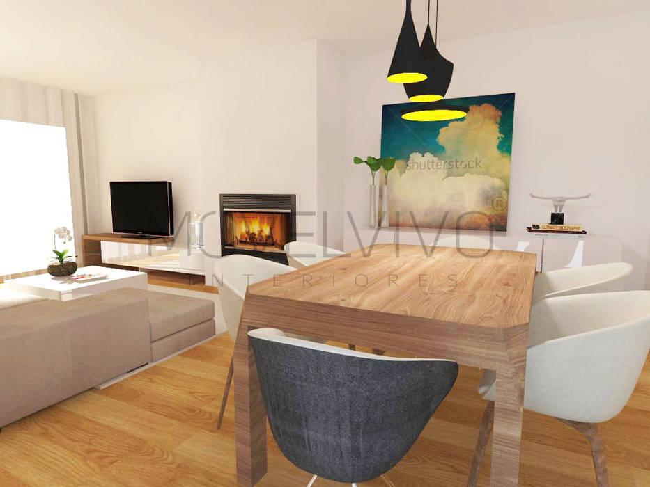 minimalistic Dining room by Movelvivo Interiores