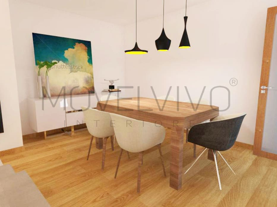 Dining room by Movelvivo Interiores
