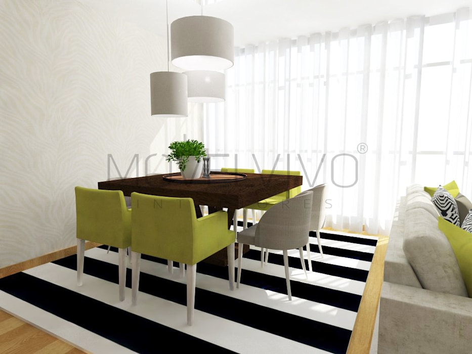 minimalistic Dining room by Movelvivo Interiores