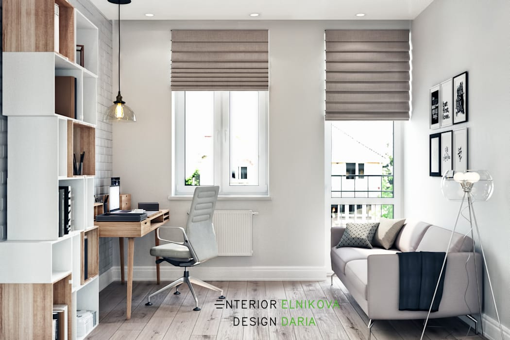Студия архитектуры и дизайна Дарьи Ельниковой Country style study/office