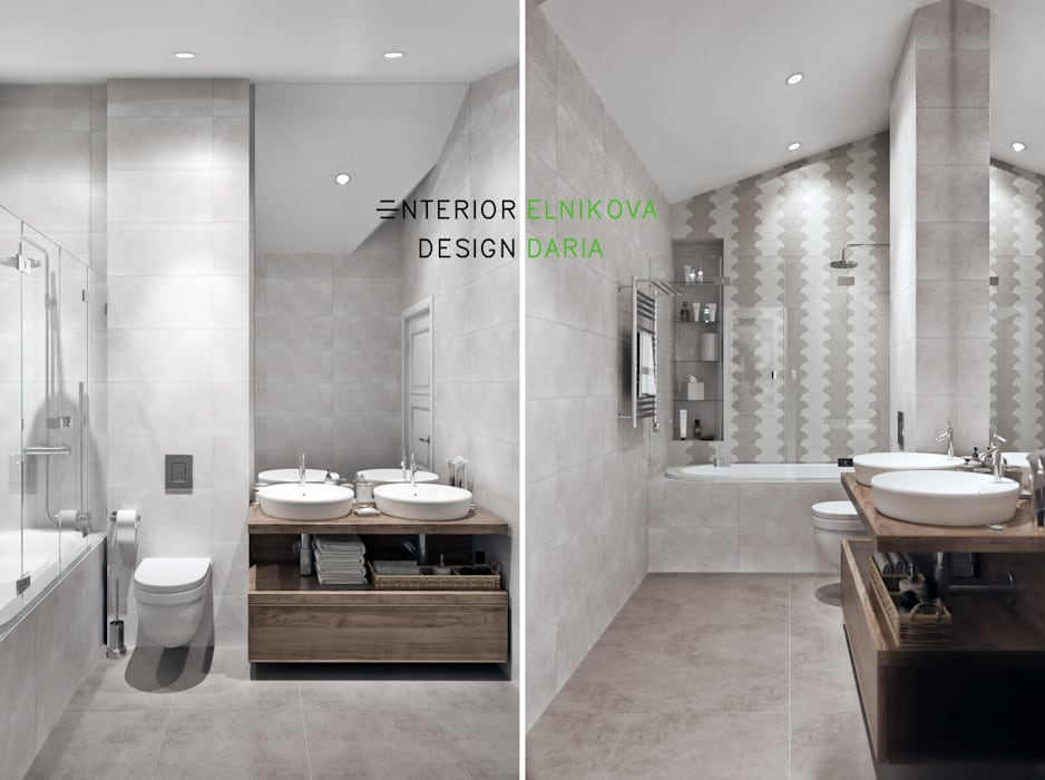 Студия архитектуры и дизайна Дарьи Ельниковой Country style bathrooms
