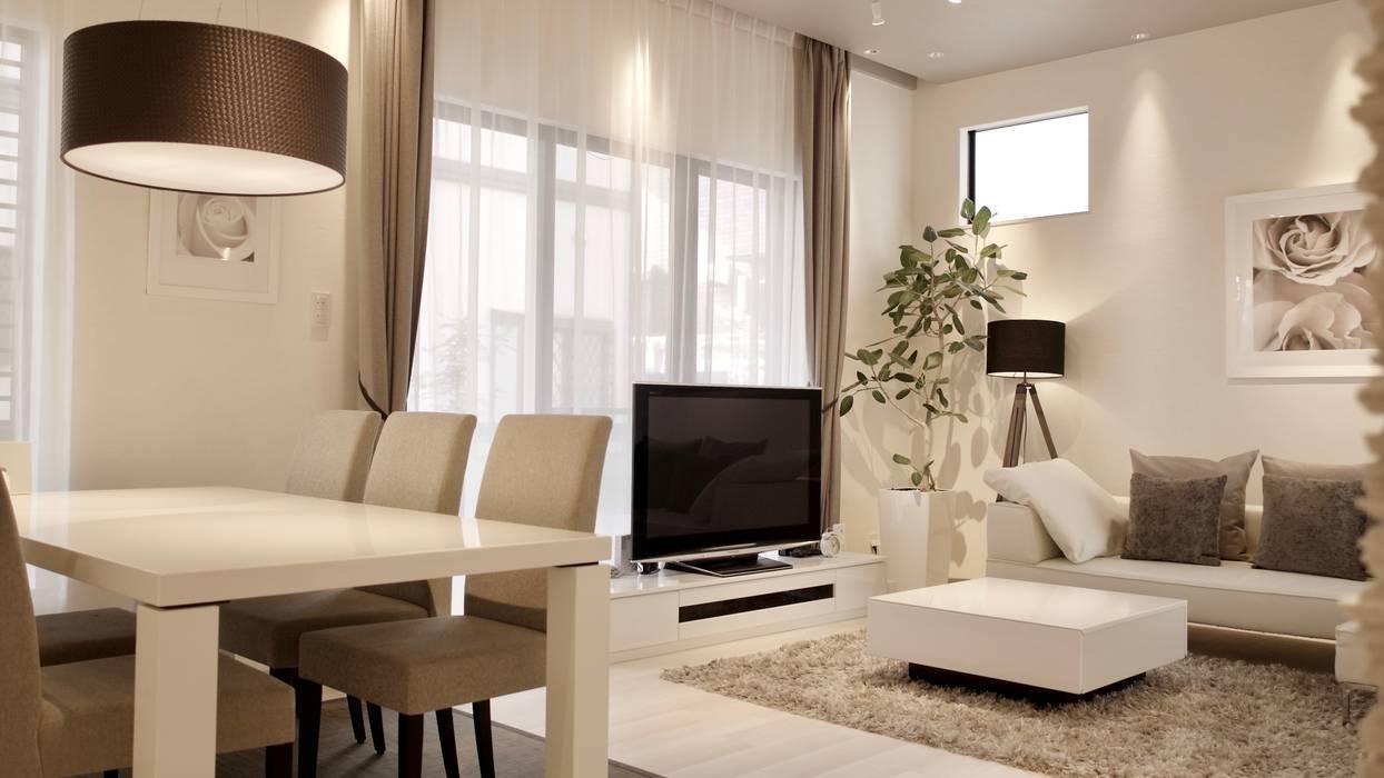 neutrale moderne wohnzimmer, moderne wohnzimmer von 株式会社urban neutral | homify, Ideen entwickeln