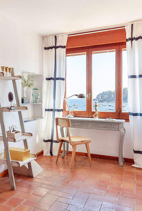 mediterranean Study/office by Markham Stagers