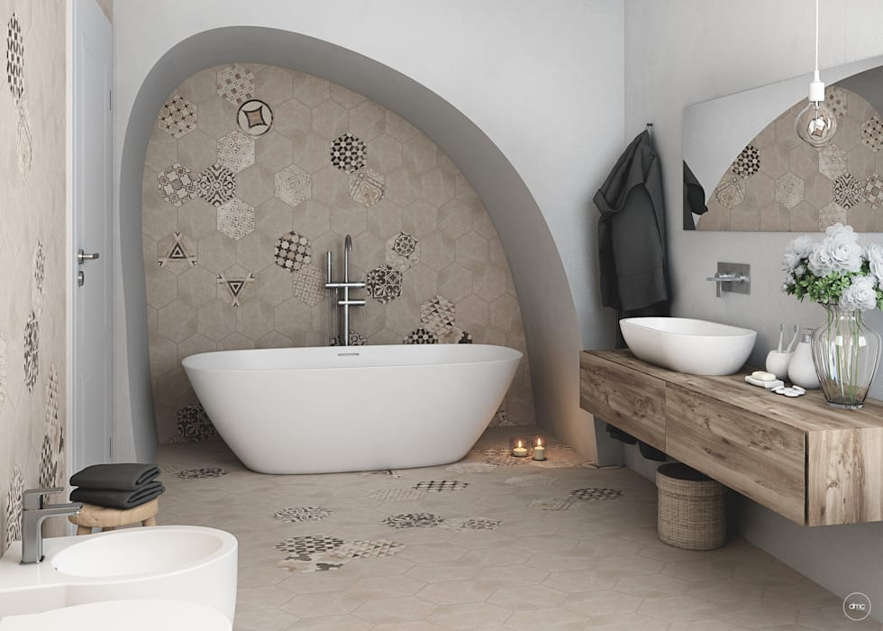 Mediterranean style bathrooms by DMC Real Render Mediterranean