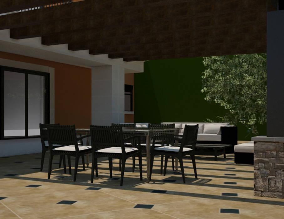 Decoracion Render De Terraza Exterior Casas Modernas De Jms