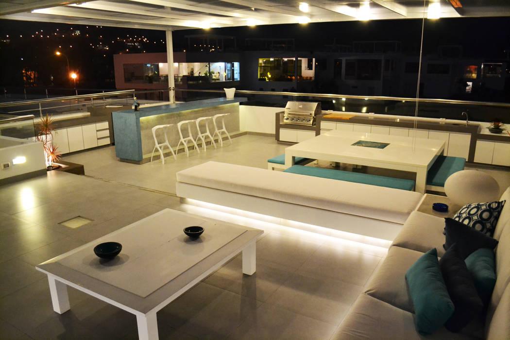 Terraza segundo piso: Terrazas de estilo  por DMS Arquitectas,