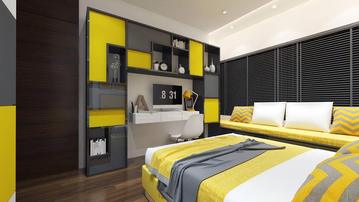 2 bedrooms Minimalist nursery/kids room by The Red Brick Wall Minimalist