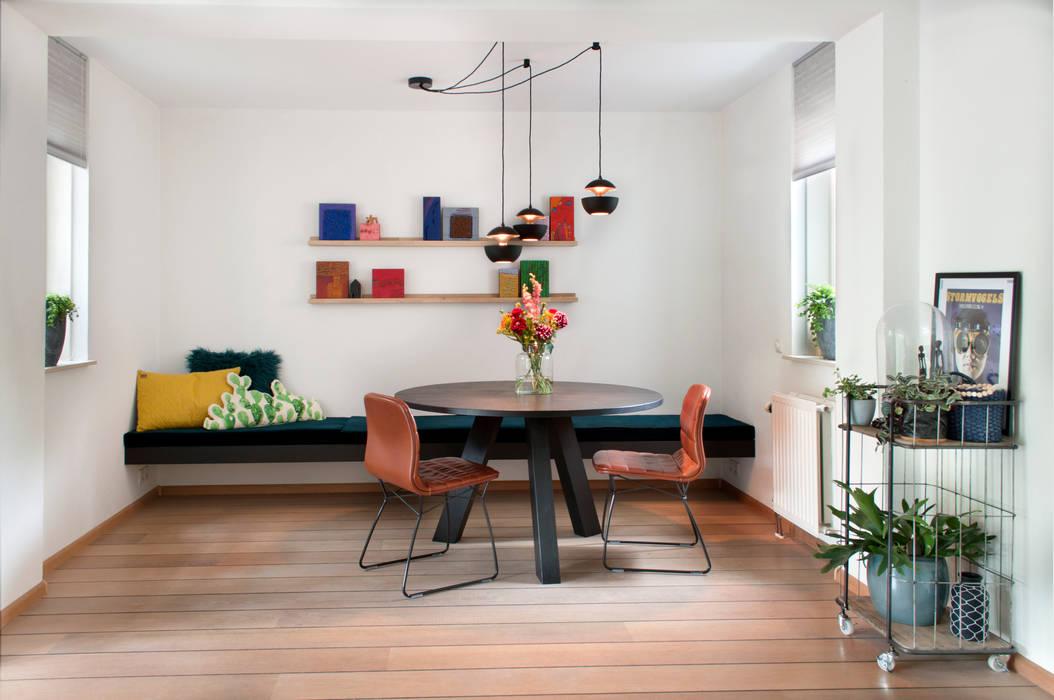 Eettafel In Woonkamer : Ronde eettafel in huiskamer: woonkamer door ijzersterk