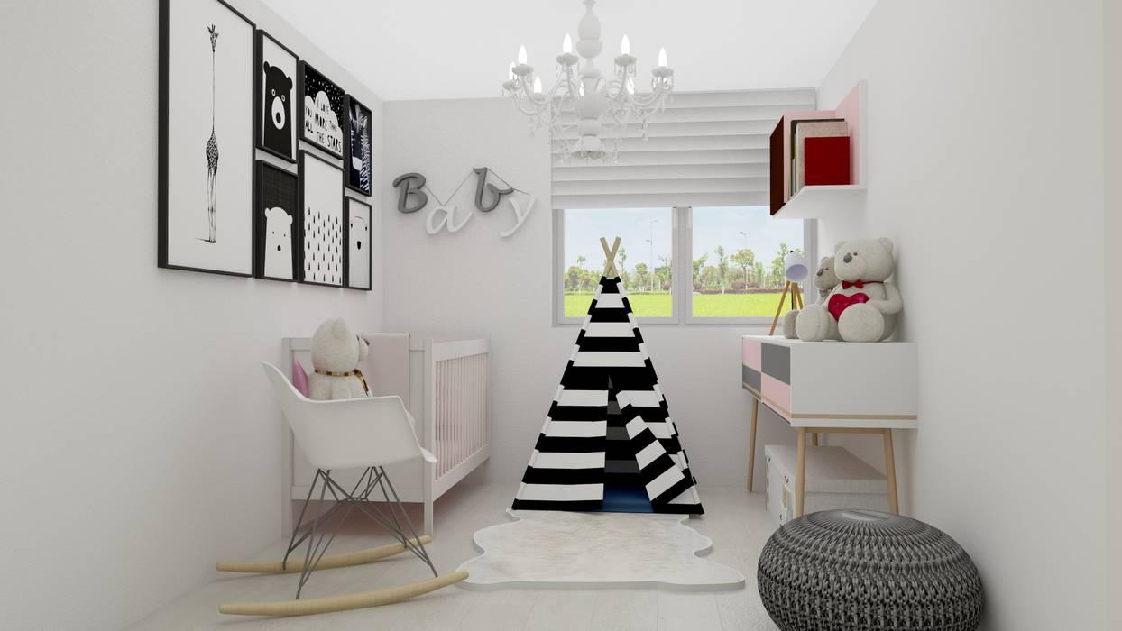 habitacion baby de Naromi Design Escandinavo Madera Acabado en madera