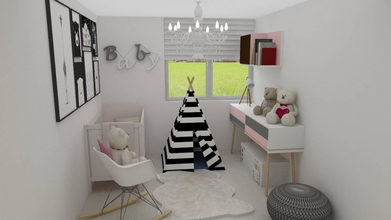 Habitacion Baby : Cuartos para bebés de estilo  por Naromi  Design