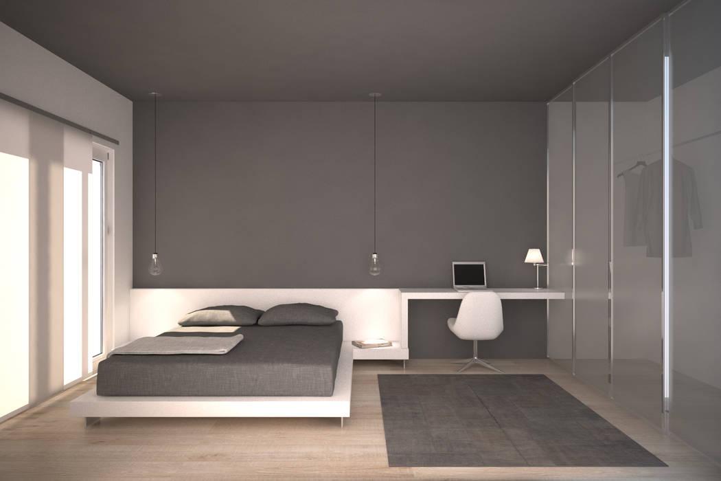 Render camera da letto: camera da letto in stile in stile moderno di ...
