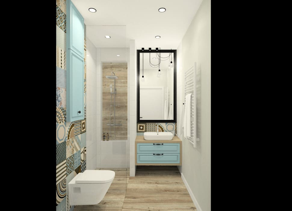 Bagno in stile in stile scandinavo di esteti design homify