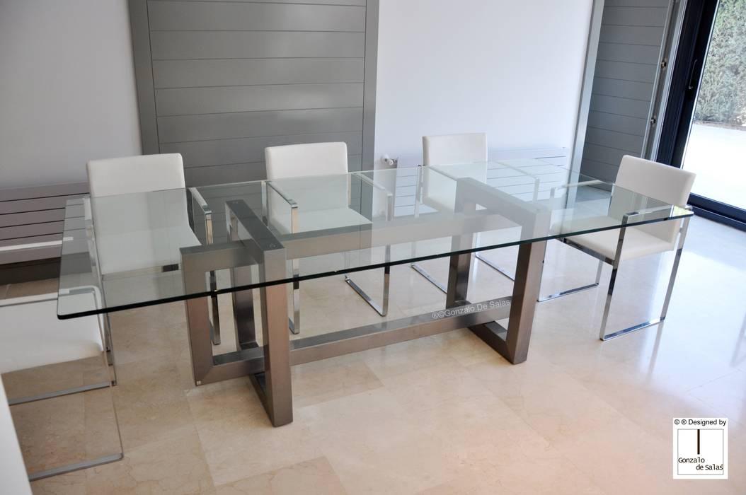 Thasos mesa de vidrio moderna comedor de estilo de - Mesas modernas de cristal ...