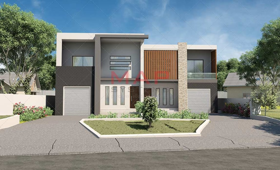3D Exterior Design of House:  Commercial Spaces by MAP Systems
