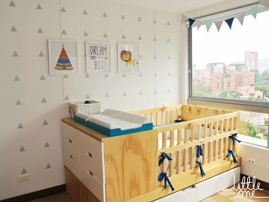 Cuarto de Vicente Habitaciones para niños de estilo escandinavo de Little One Escandinavo
