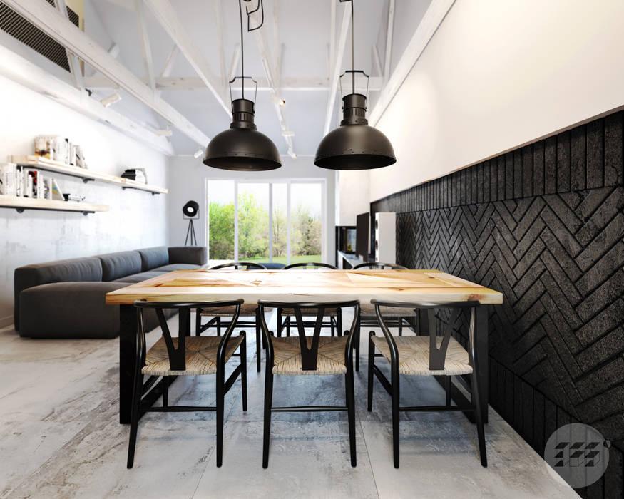 Dom Industrialny Styl W Kategorii Jadalnia Zaprojektowany Przez