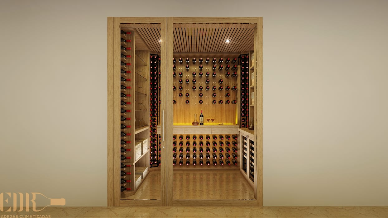 Classic style wine cellar by Edr Cristal - Adegas Climatizadas Classic Glass