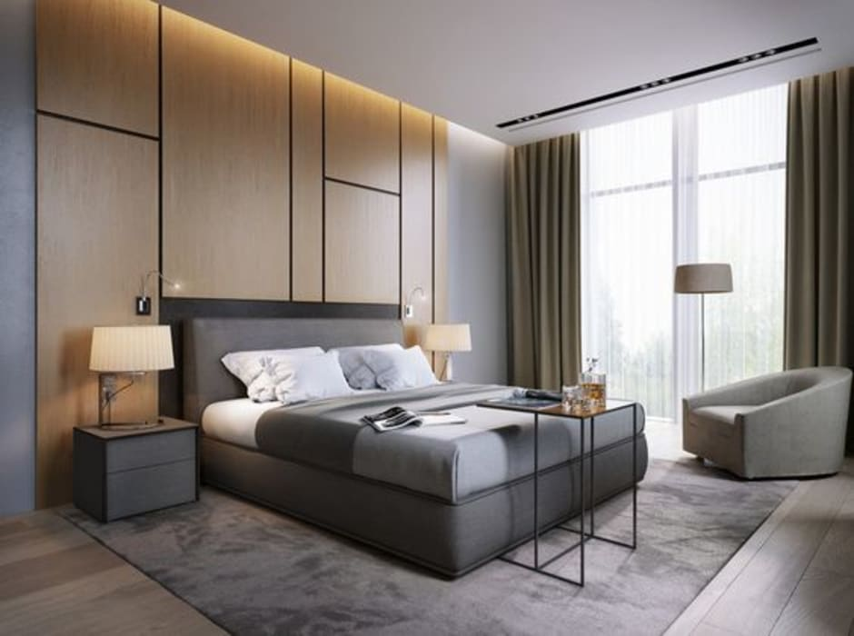 BED ROOM Modern style bedroom by Archie-Core Modern
