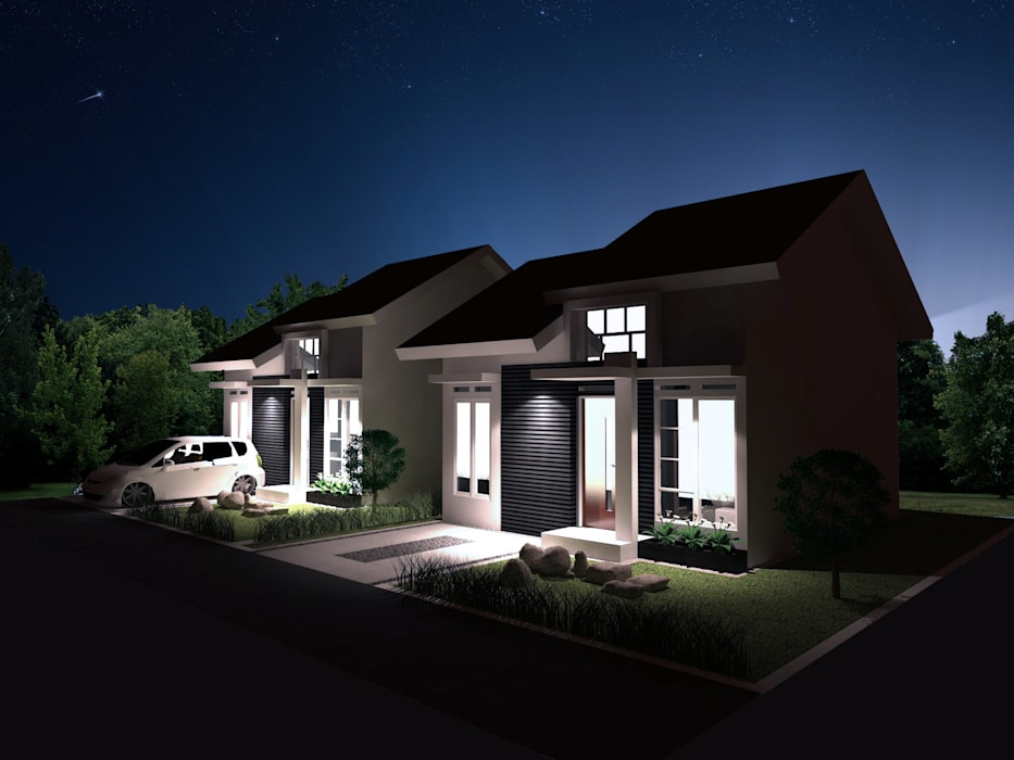 Artomoro Residences Axis&M Architects Rumah Modern Batu Bata Multicolored