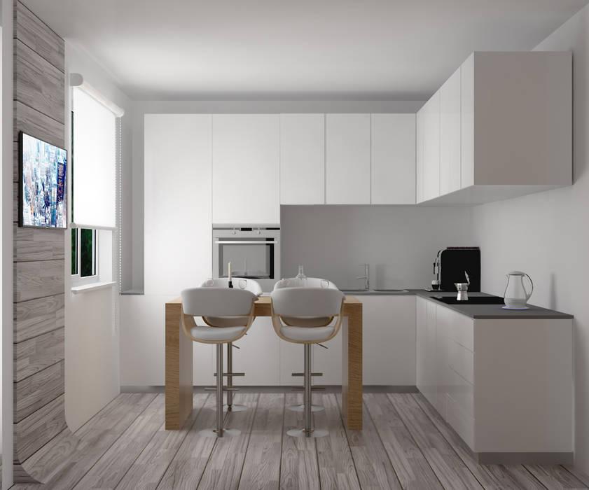 cucina e progetto arredi Cucina moderna di Silvana Barbato Moderno