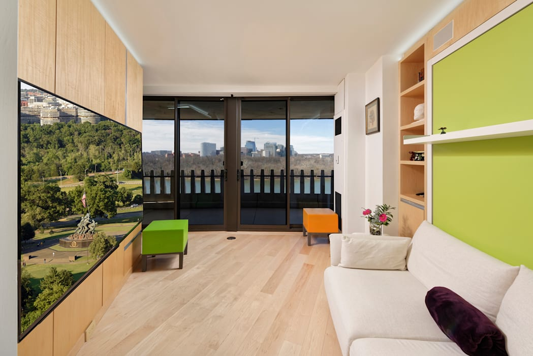 Contemporary Washington, DC Condominium Renovation BOWA - Design Build Experts Modern Media Room