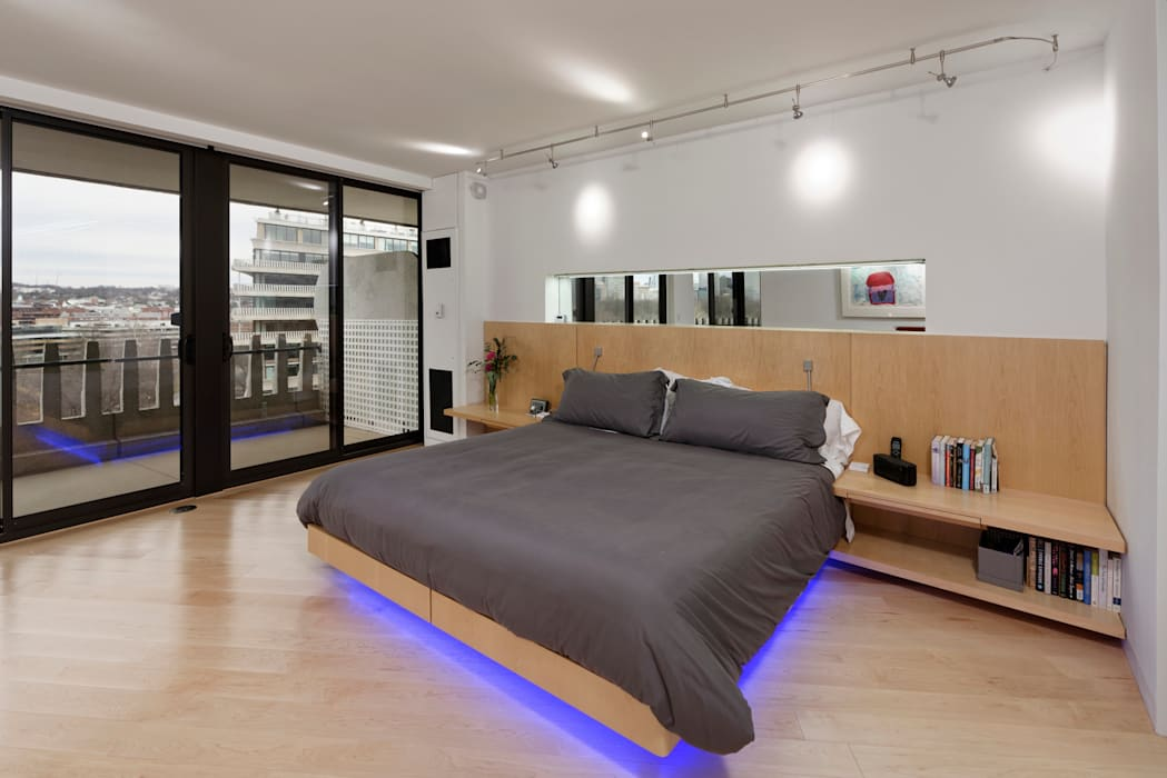 Contemporary Washington, DC Condominium Renovation Modern Bedroom by BOWA - Design Build Experts Modern
