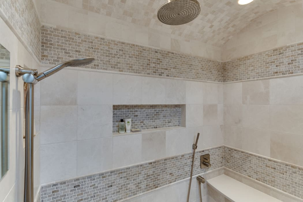 Universal Design Master Suite Renovation in McLean, VA BOWA - Design Build Experts Minimalist style bathroom