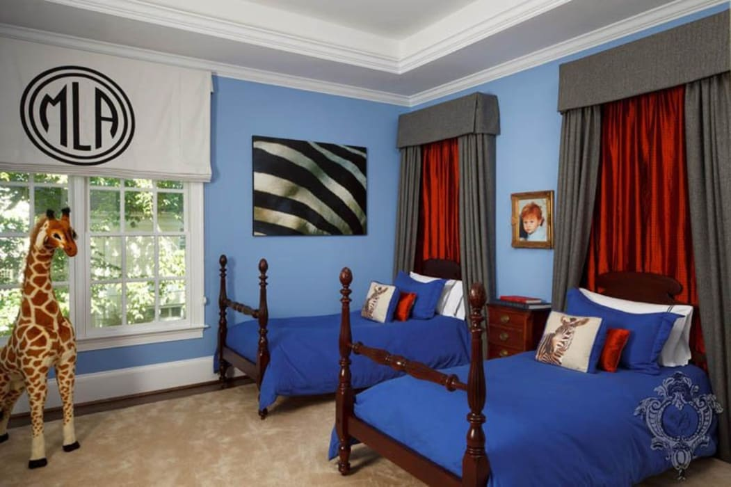 Bedroom Eclectic style bedroom by Kellie Burke Interiors Eclectic