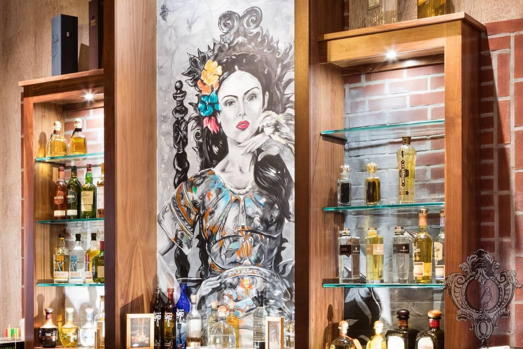 Bar Mural Kellie Burke Interiors 酒吧&夜店