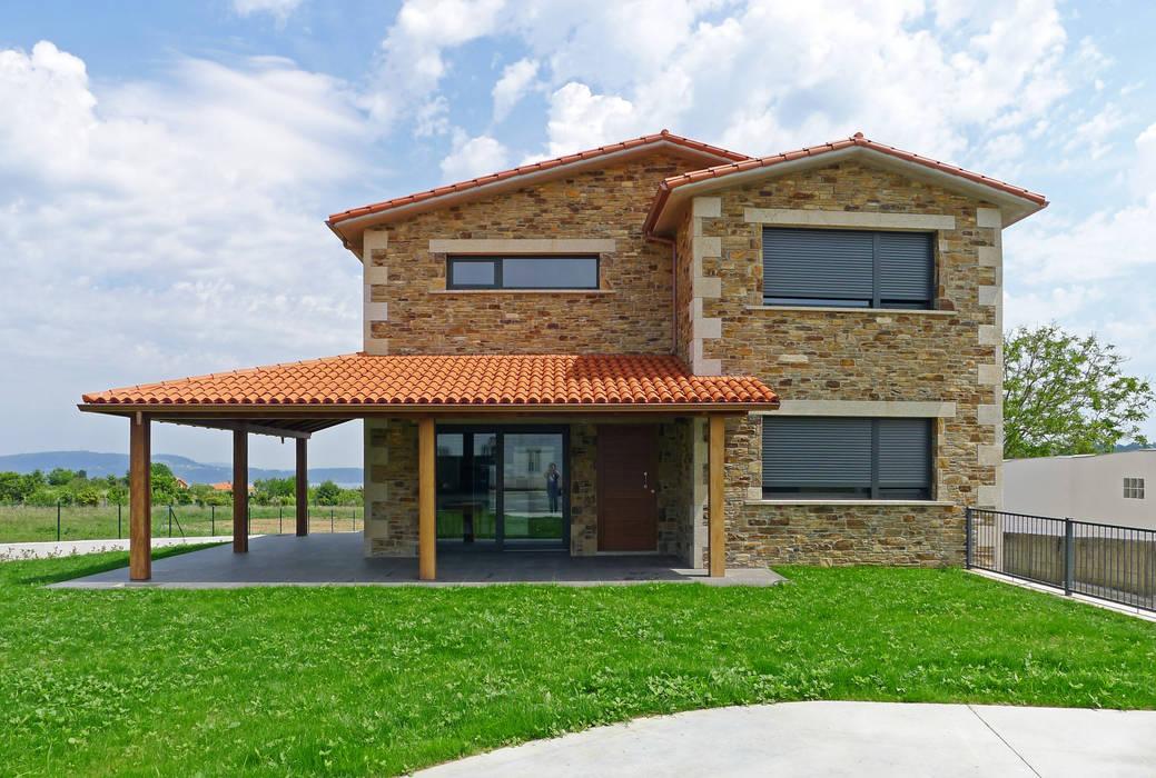 Casas rústicas por AD+ arquitectura Rústico Pedra