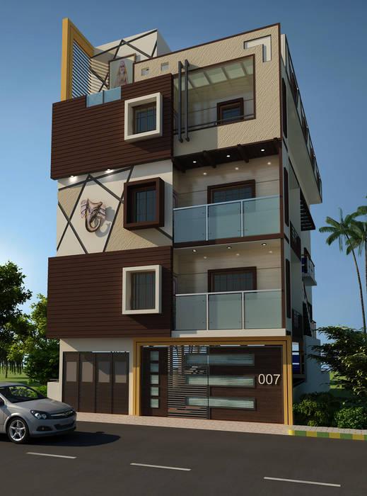 Residence OF Mr.Raghav:  Houses by A-Z Architects & Vaastu,