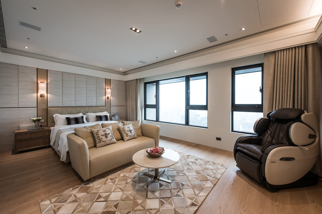 Dormitorios de estilo  de 汎羽空間設計, Asiático