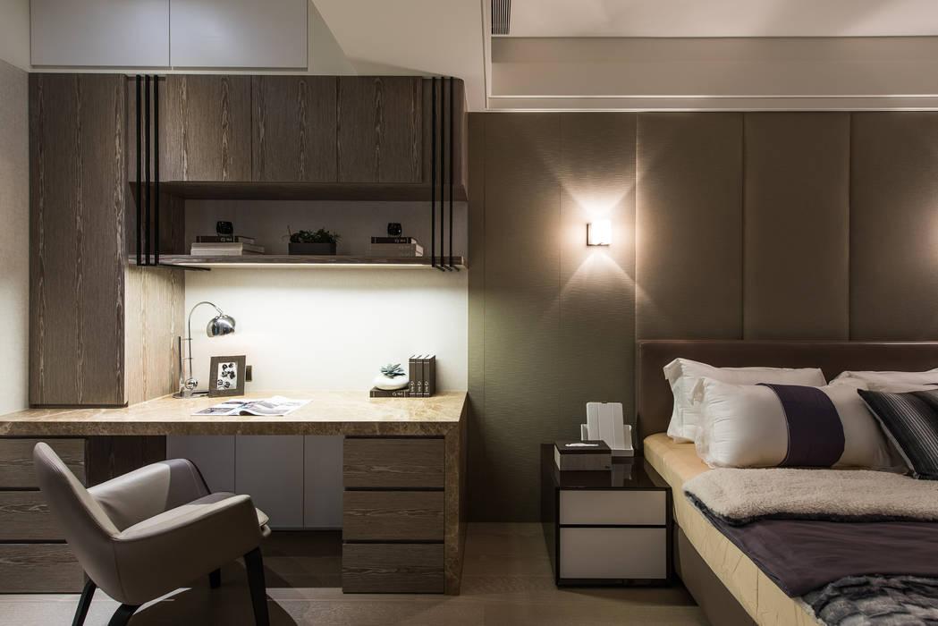 NO.25 C宅:  臥室 by 汎羽空間設計, 日式風、東方風