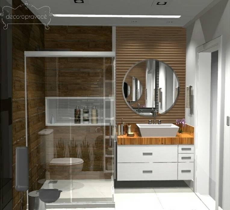 Bathroom by Decoropravocê - Decoração ao seu alcance.,